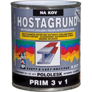 Hostagrund  Prim 3 v 1 na Zelezo (многофункциональное покрытие: антикорозия-грунт-эмаль 3 в 1 для металлов) (0,6л, медный)