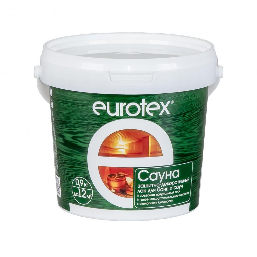 EUROTEX-САУНА ЛАК Защитно-декоративное покрытие для древесины (2,5л.)